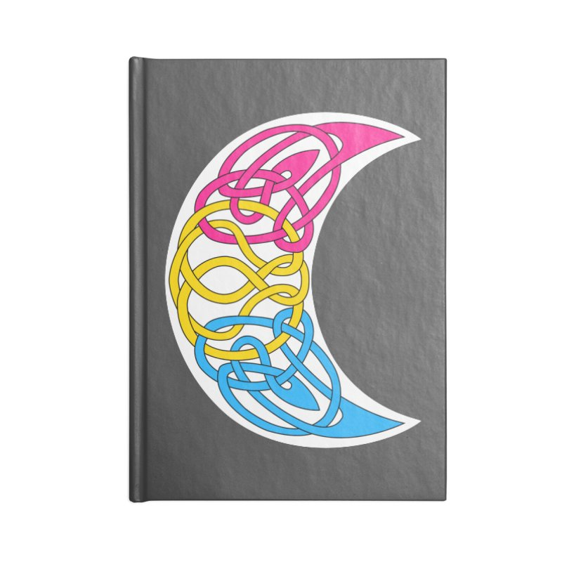 Pansexual Pride Celtic Moon Accessories Notebook by Artistfire Studios