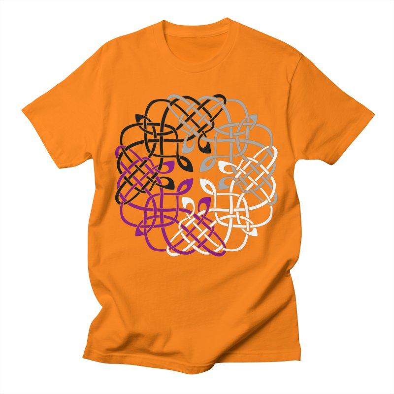 Asexual Pride Celtic Design Men's T-Shirt by Artistfire Studios