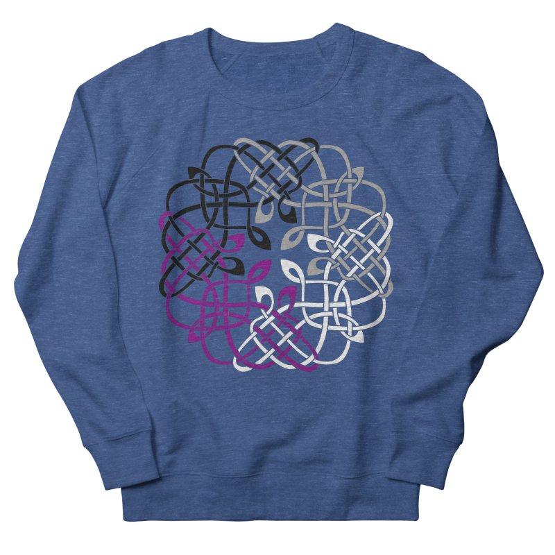 Asexual Pride Celtic Design Men's Sweatshirt by Artistfire Studios