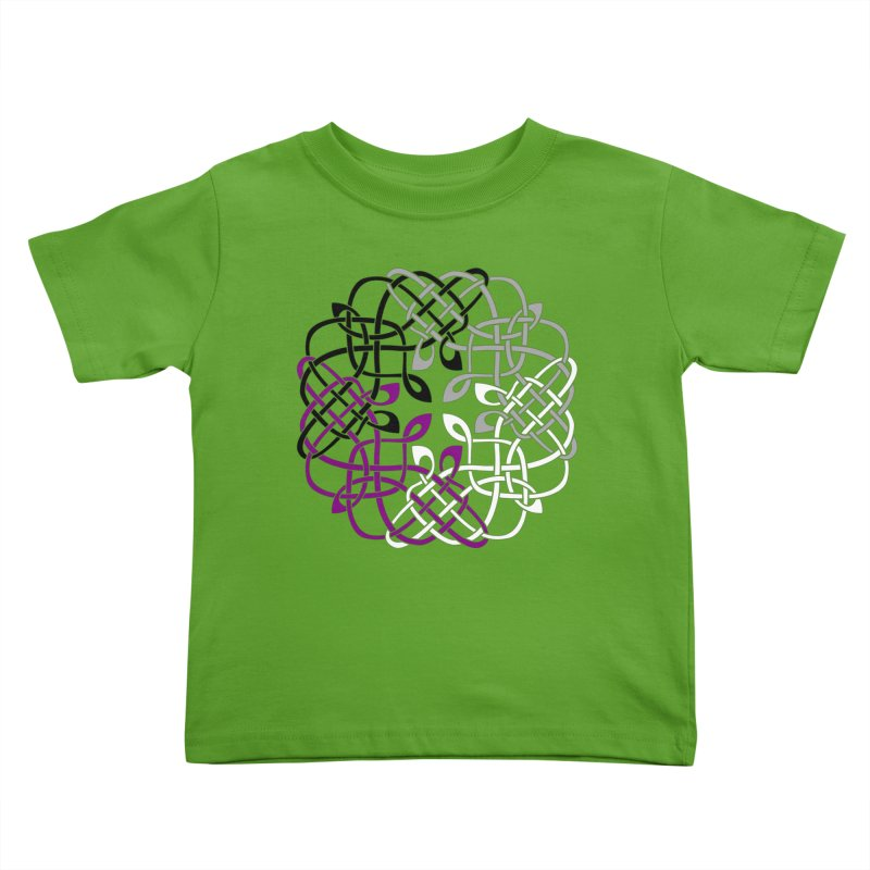Asexual Pride Celtic Design Kids Toddler T-Shirt by Artistfire Studios