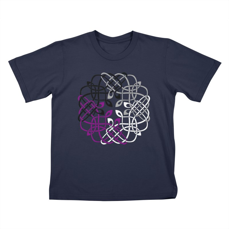 Asexual Pride Celtic Design Kids T-Shirt by Artistfire Studios