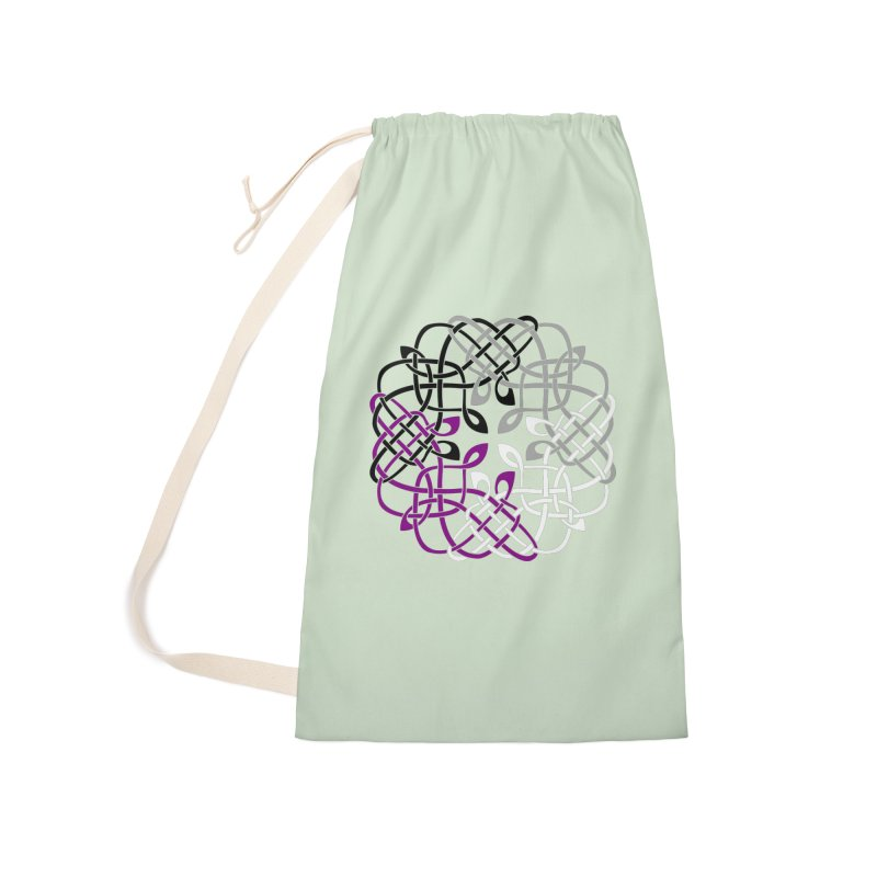 Asexual Pride Celtic Design Accessories Bag by Artistfire Studios