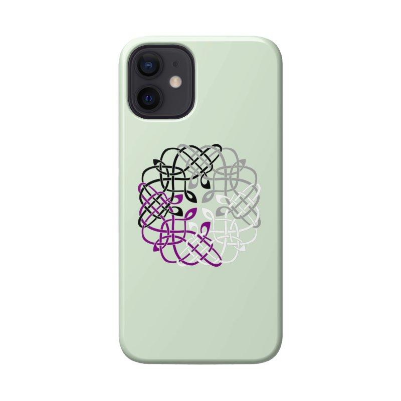 Asexual Pride Celtic Design Accessories Phone Case by Artistfire Studios