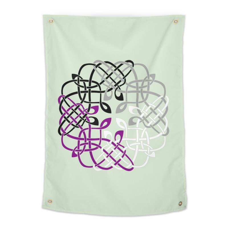 Asexual Pride Celtic Design Home Tapestry by Artistfire Studios