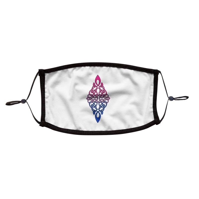 Bisexual Pride Celtic Diamond Accessories Face Mask by Artistfire Studios