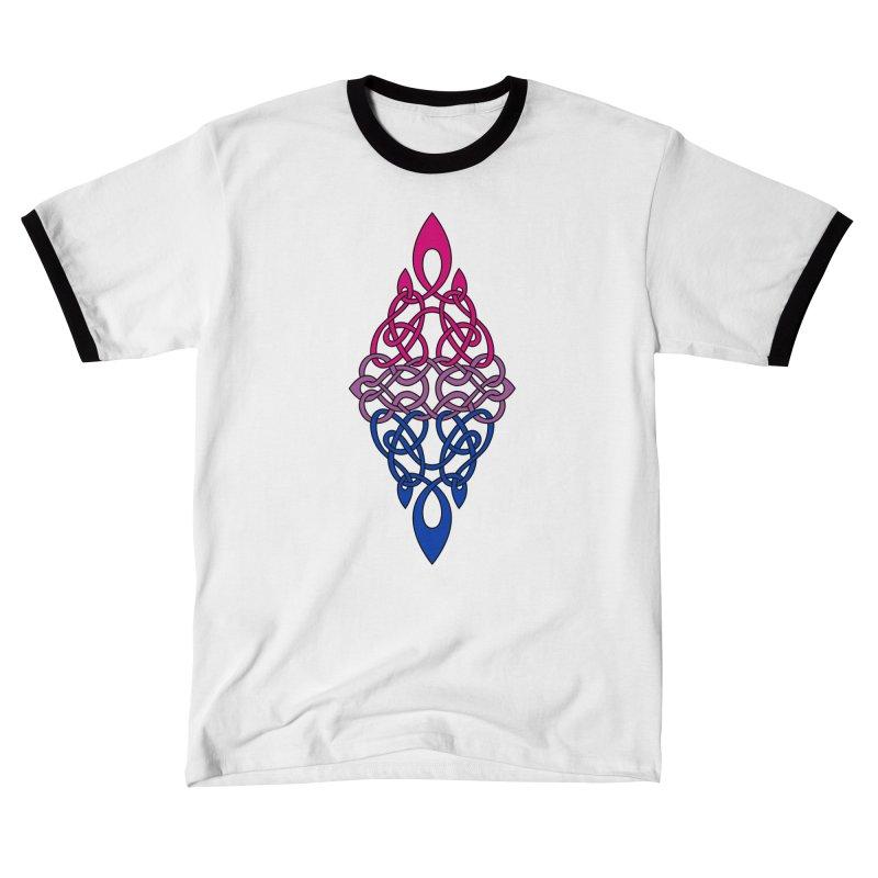Bisexual Pride Celtic Diamond Men's T-Shirt by Artistfire Studios