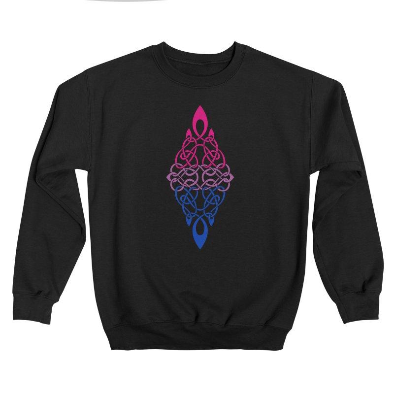Bisexual Pride Celtic Diamond Men's Sweatshirt by Artistfire Studios