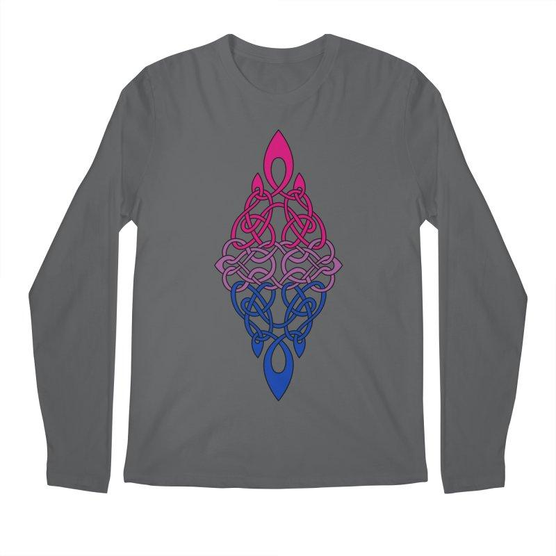 Bisexual Pride Celtic Diamond Men's Longsleeve T-Shirt by Artistfire Studios