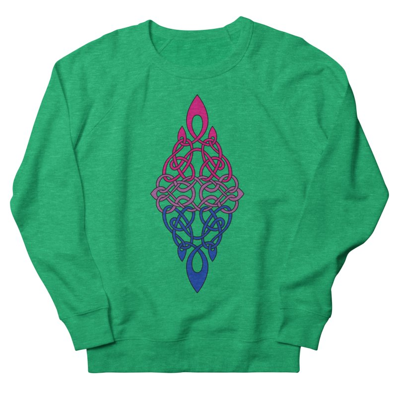 Bisexual Pride Celtic Diamond Women's Sweatshirt by Artistfire Studios