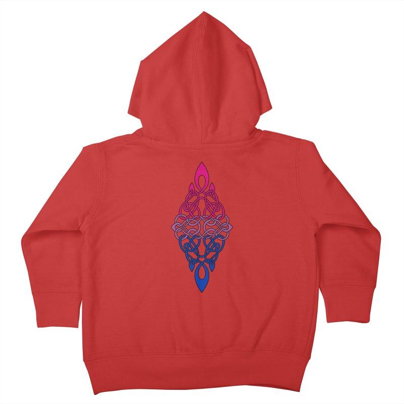 Bisexual Pride Celtic Diamond Kids Toddler Zip-Up Hoody by Artistfire Studios
