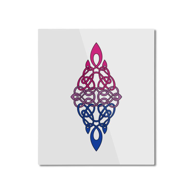 Bisexual Pride Celtic Diamond Home Mounted Aluminum Print by Artistfire Studios