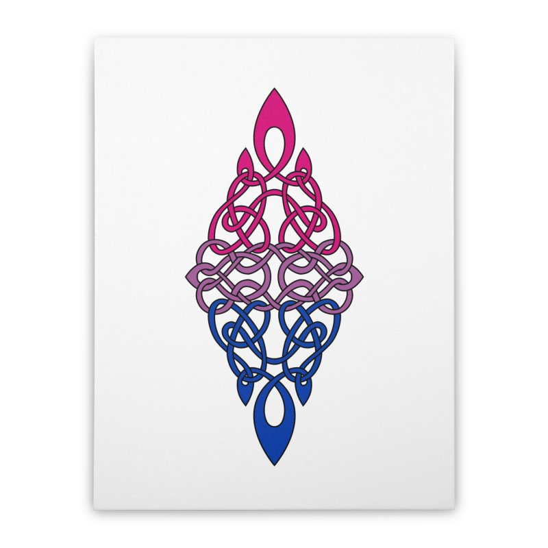 Bisexual Pride Celtic Diamond Home Stretched Canvas by Artistfire Studios