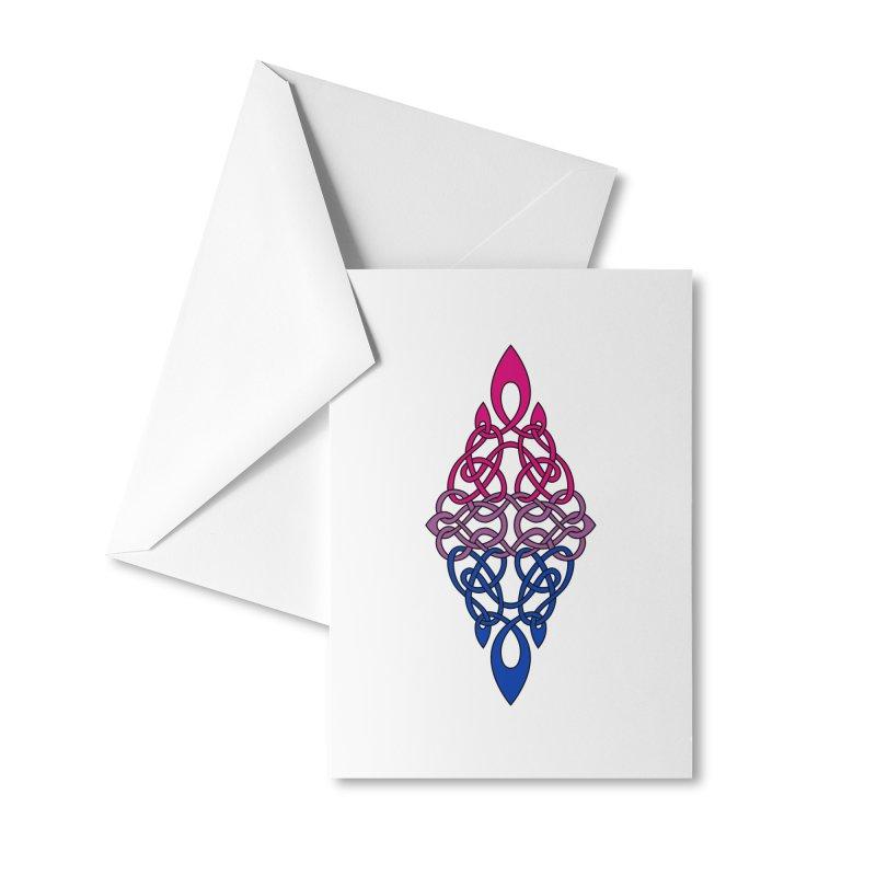 Bisexual Pride Celtic Diamond Accessories Greeting Card by Artistfire Studios
