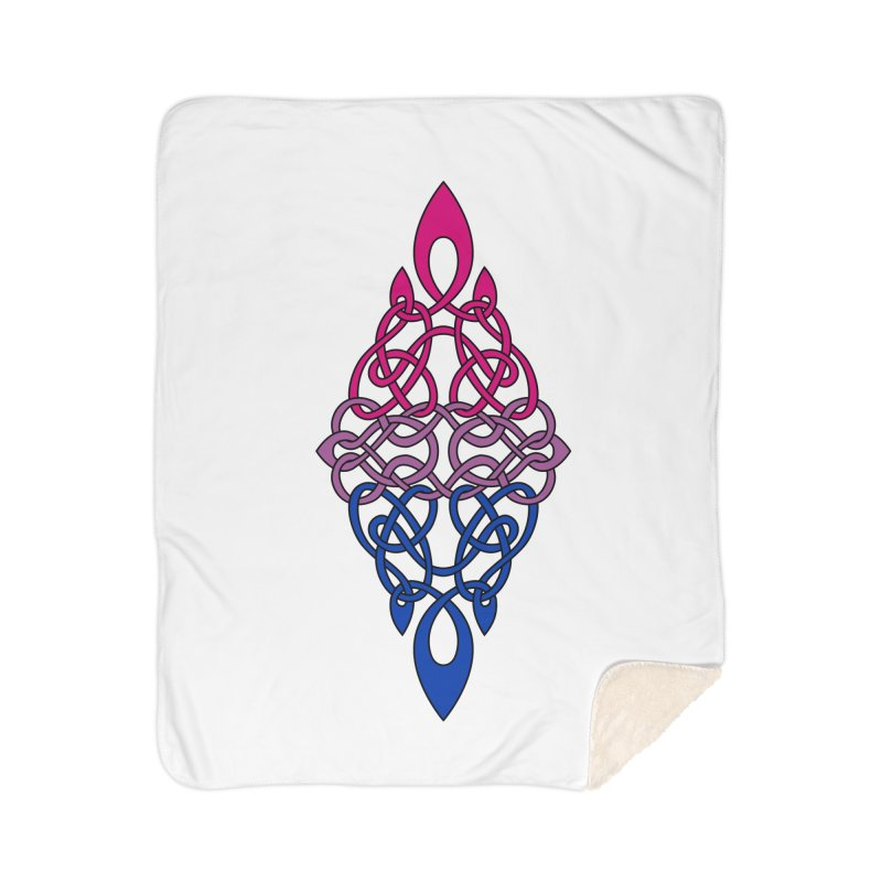 Bisexual Pride Celtic Diamond Home Blanket by Artistfire Studios