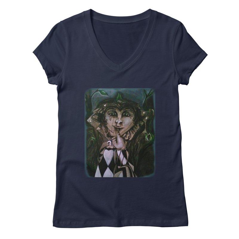 POKERFACE Women's V-Neck by Artluvr80's Shop