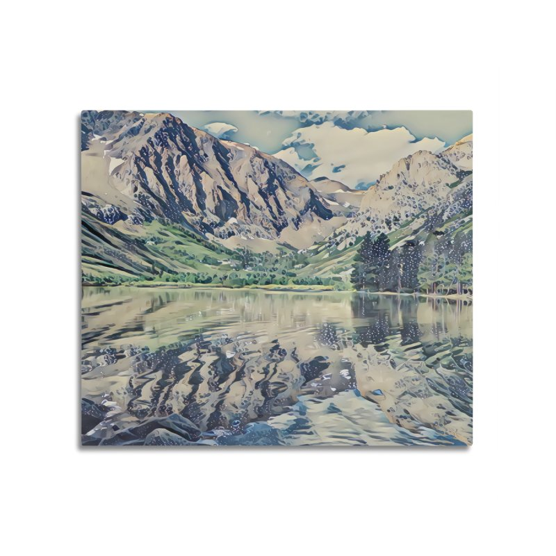 Mountain Lake, California Home Mounted Aluminum Print by ArtlyStudio's Artist Shop