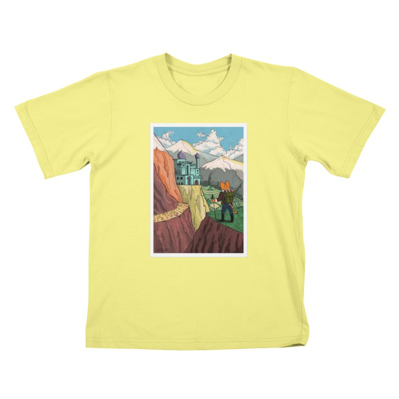 Lost Horizon Kids T-shirt by Art of Damz Shop