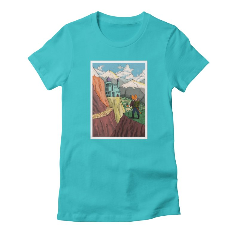 Lost Horizon Women's Fitted T-Shirt by Art of Damz Shop