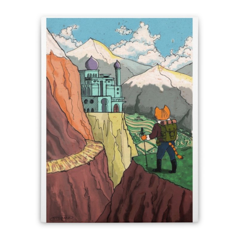 Lost Horizon Home Stretched Canvas by Art of Damz Shop