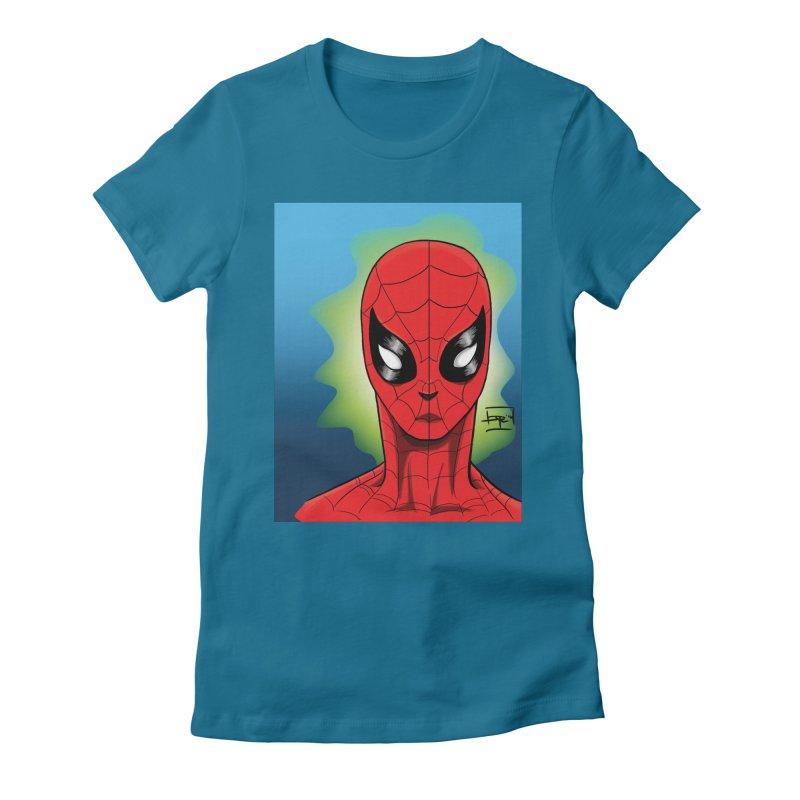 Spidey Women's Fitted T-Shirt by Artofplo's Artist Shop