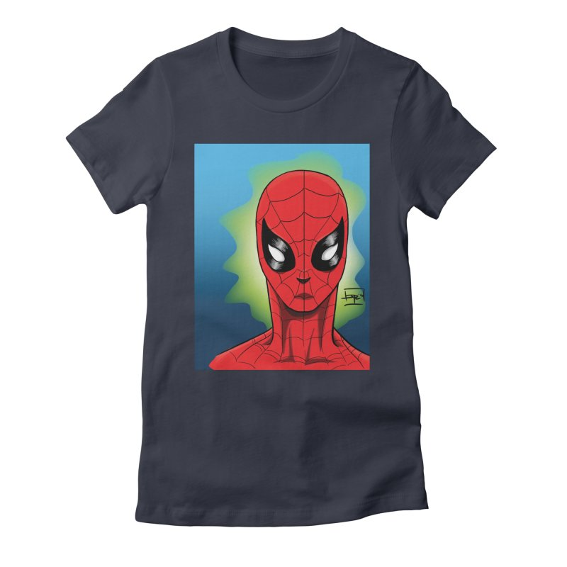 Spidey Women's Fitted T-Shirt by Artofplo's Artist Shop