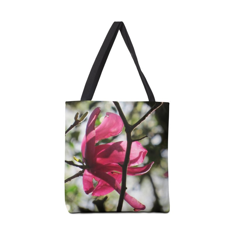 Pink Tulip Tree Bloom Accessories Bag by ArtsFolly's Artist Shop