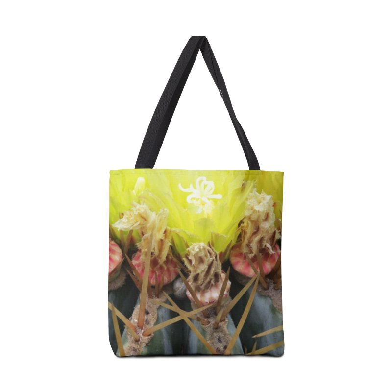 Barrel Cactus in bloom Accessories Bag by ArtsFolly's Artist Shop