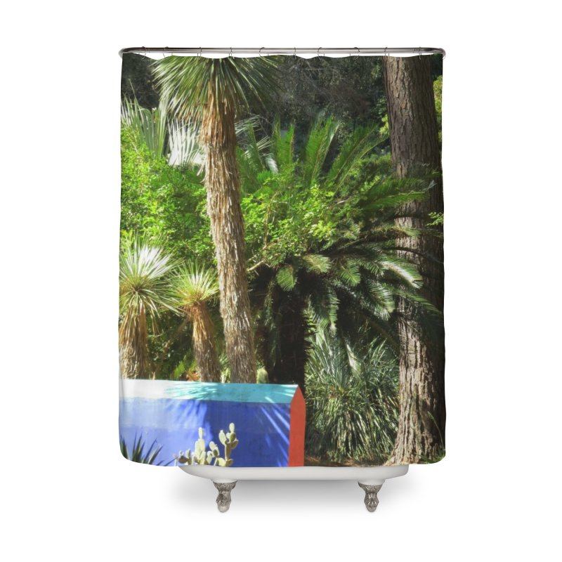 A tribute garden to Frida Kahlo Home Shower Curtain by ArtsFolly's Artist Shop