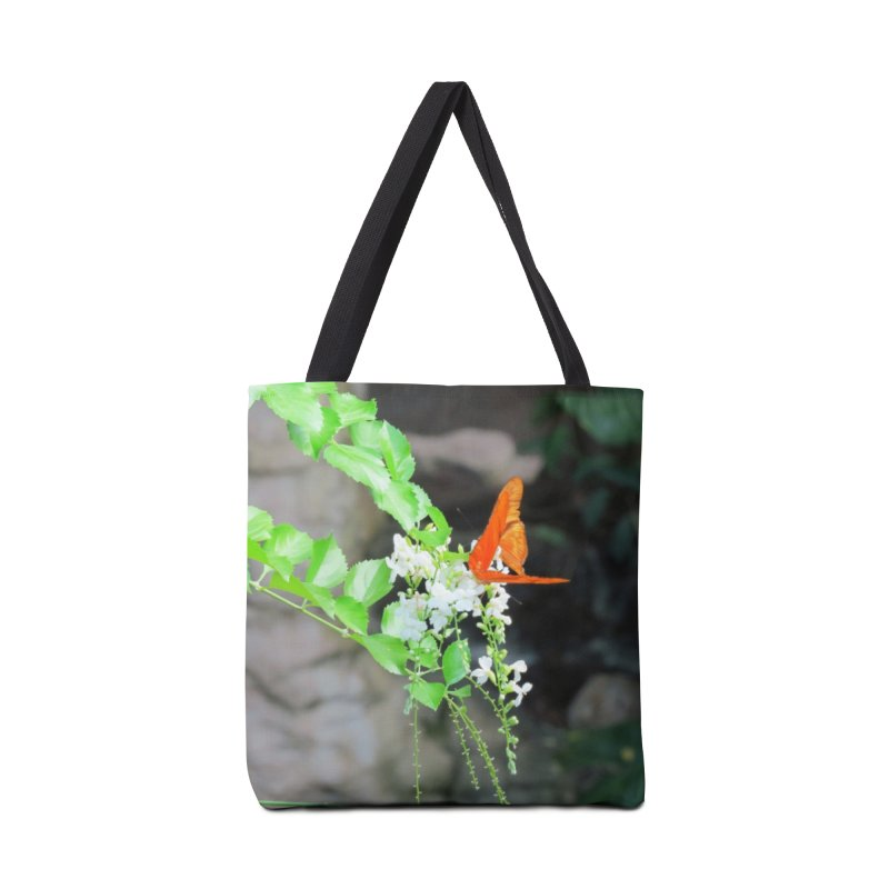Orange Butterflies on White Flowers  Accessories Bag by ArtsFolly's Artist Shop