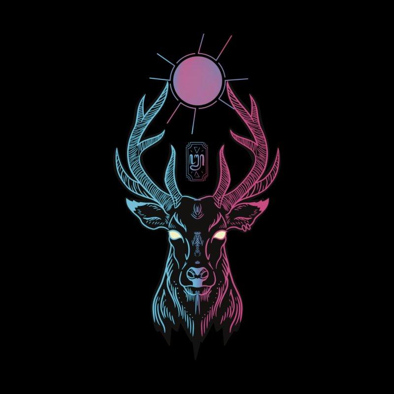 Cyber Deer Men's T-Shirt by Artthree Shop