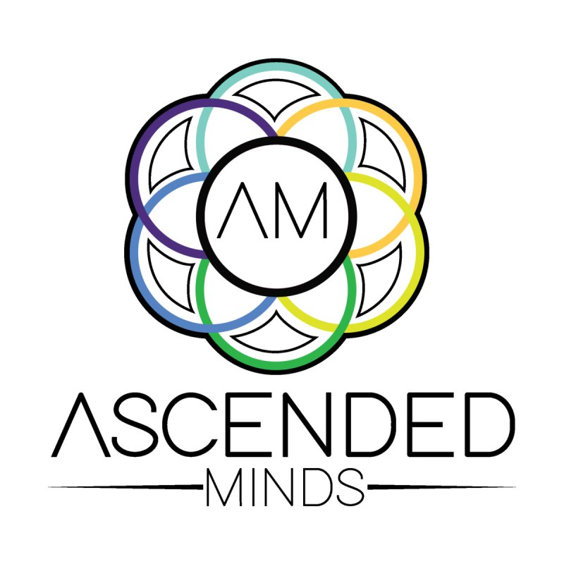 Outline logo with black lettering by Ascended Minds