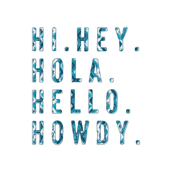 Design for Howdy Greeting Card