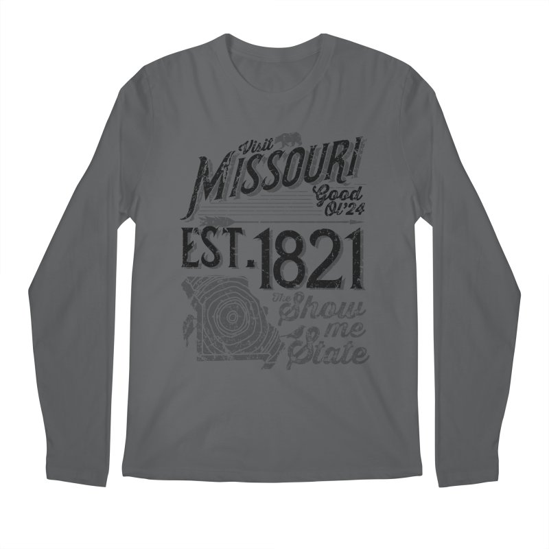 Visit Missouri Men's Regular Longsleeve T-Shirt by Jesse Nickles