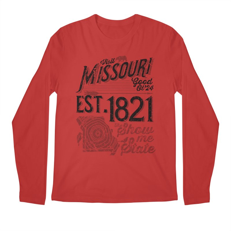 Visit Missouri Men's Regular Longsleeve T-Shirt by Jesse Nickles