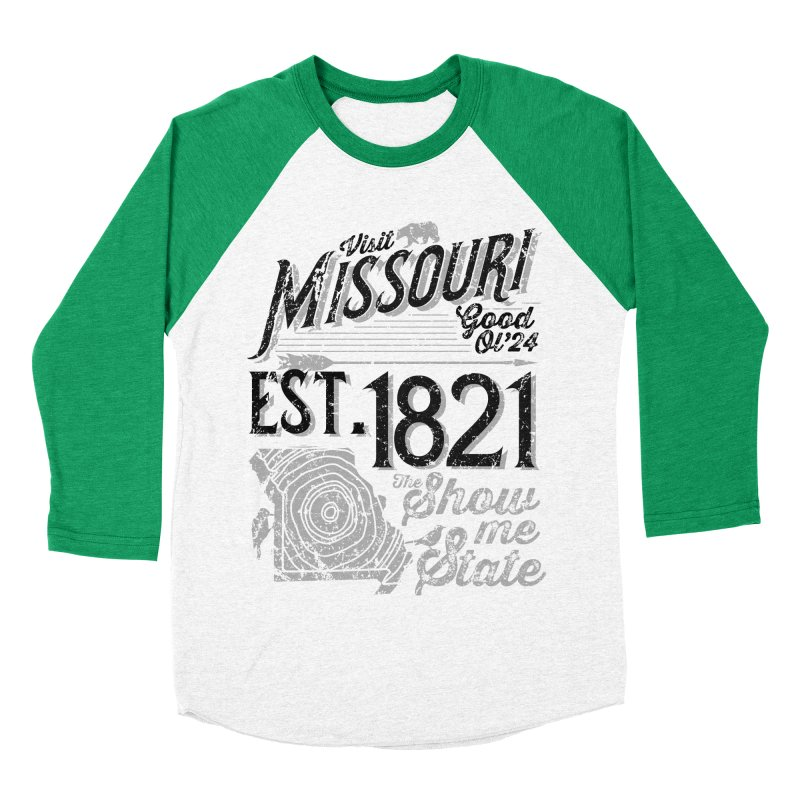 Visit Missouri Women's Baseball Triblend Longsleeve T-Shirt by Jesse Nickles