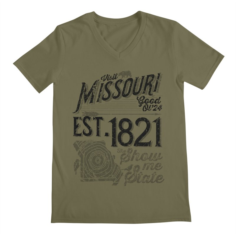 Visit Missouri Men's V-Neck by Atomica Press