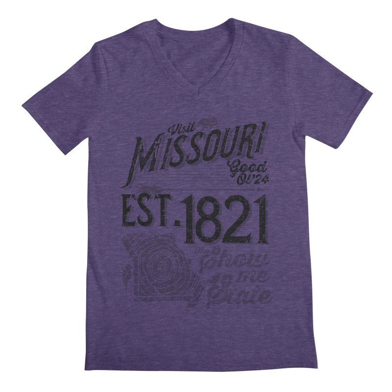 Visit Missouri Men's Regular V-Neck by Jesse Nickles