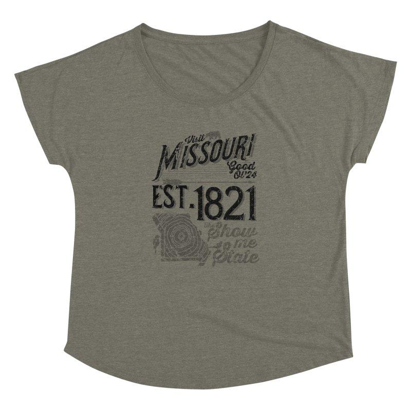Visit Missouri Women's Dolman Scoop Neck by Jesse Nickles