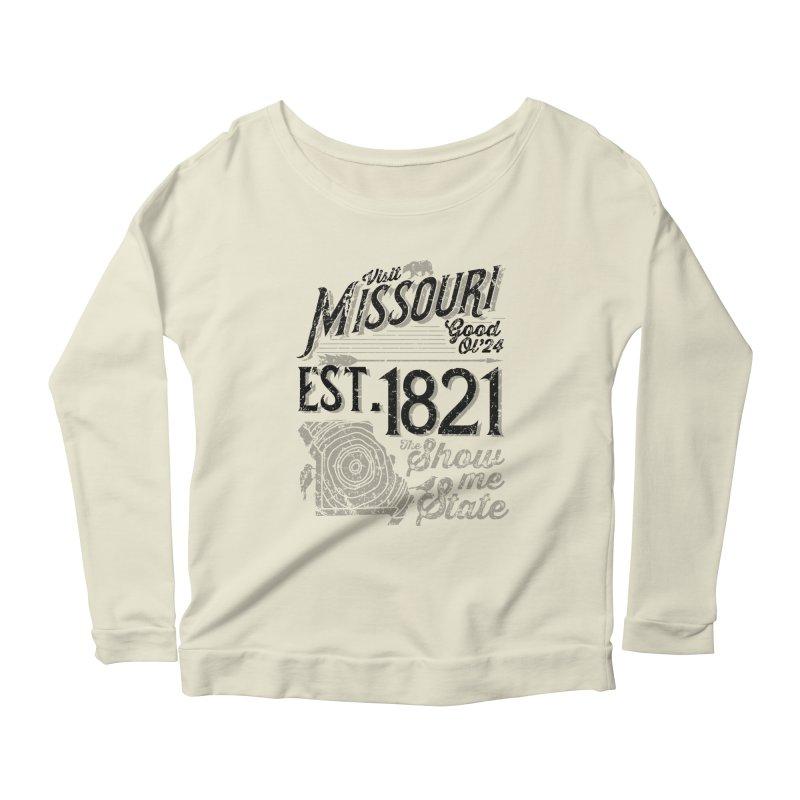Visit Missouri Women's Longsleeve Scoopneck  by Jesse Nickles