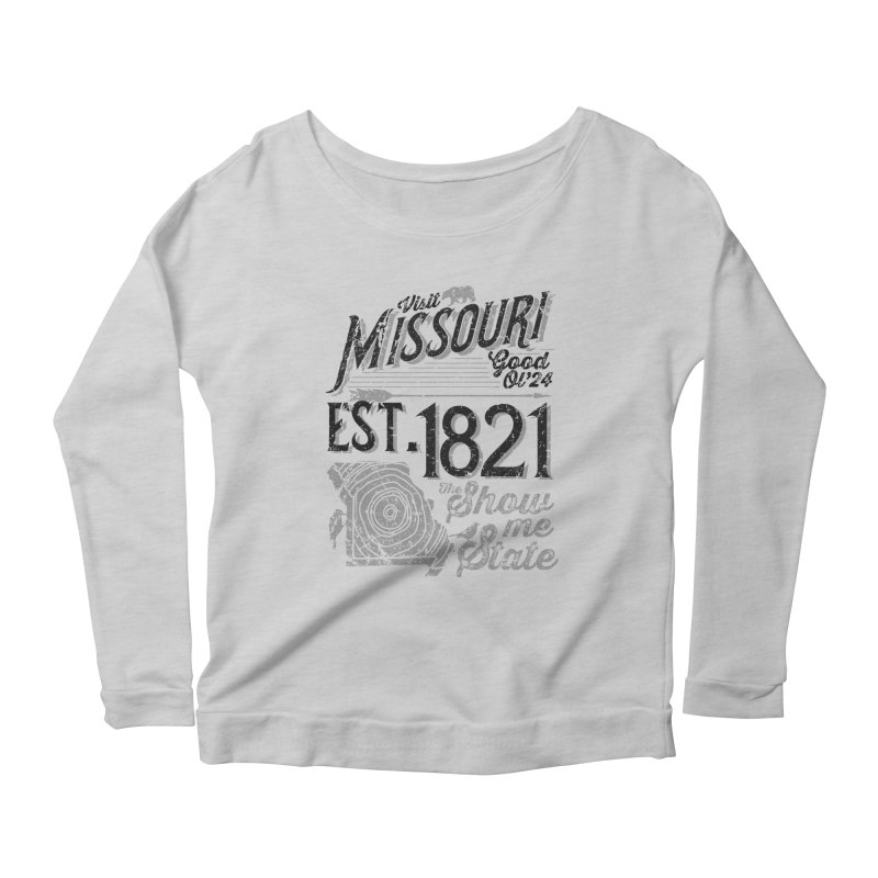 Visit Missouri Women's Scoop Neck Longsleeve T-Shirt by Jesse Nickles