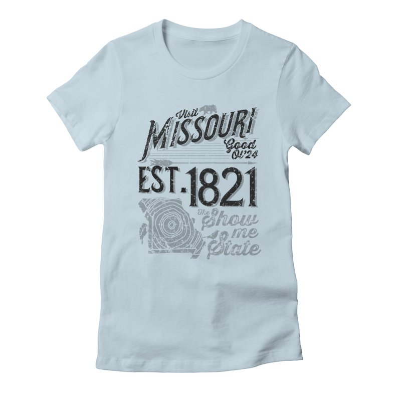 Visit Missouri Women's Fitted T-Shirt by Atomica Press