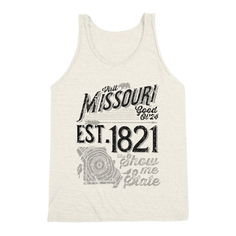 Visit Missouri Men's Triblend Tank by Jesse Nickles