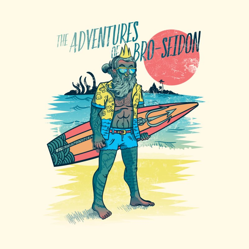 The Adventures of Bro-Seidon Accessories Beach Towel by Jesse Nickles