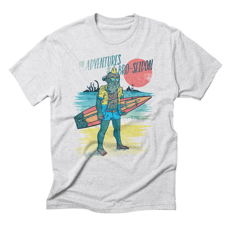 The Adventures of Bro-Seidon Men's Triblend T-Shirt by Jesse Nickles
