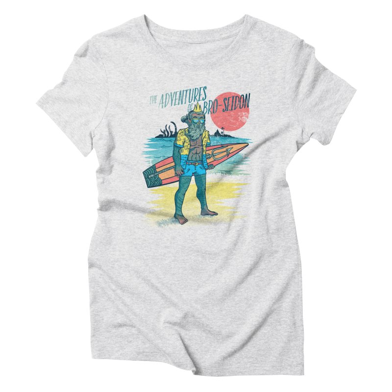 The Adventures of Bro-Seidon Women's Triblend T-Shirt by Jesse Nickles