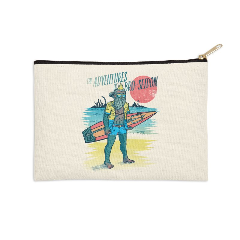 The Adventures of Bro-Seidon Accessories Zip Pouch by Jesse Nickles