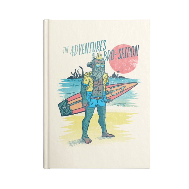 The Adventures of Bro-Seidon Accessories Lined Journal Notebook by Jesse Nickles