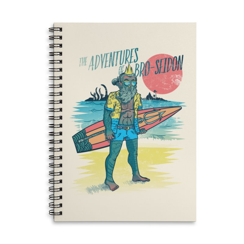 The Adventures of Bro-Seidon Accessories Lined Spiral Notebook by Jesse Nickles