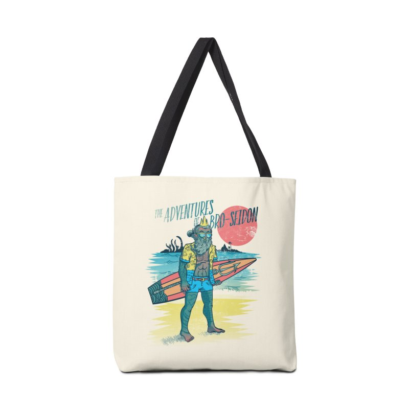 The Adventures of Bro-Seidon Accessories Tote Bag Bag by Jesse Nickles