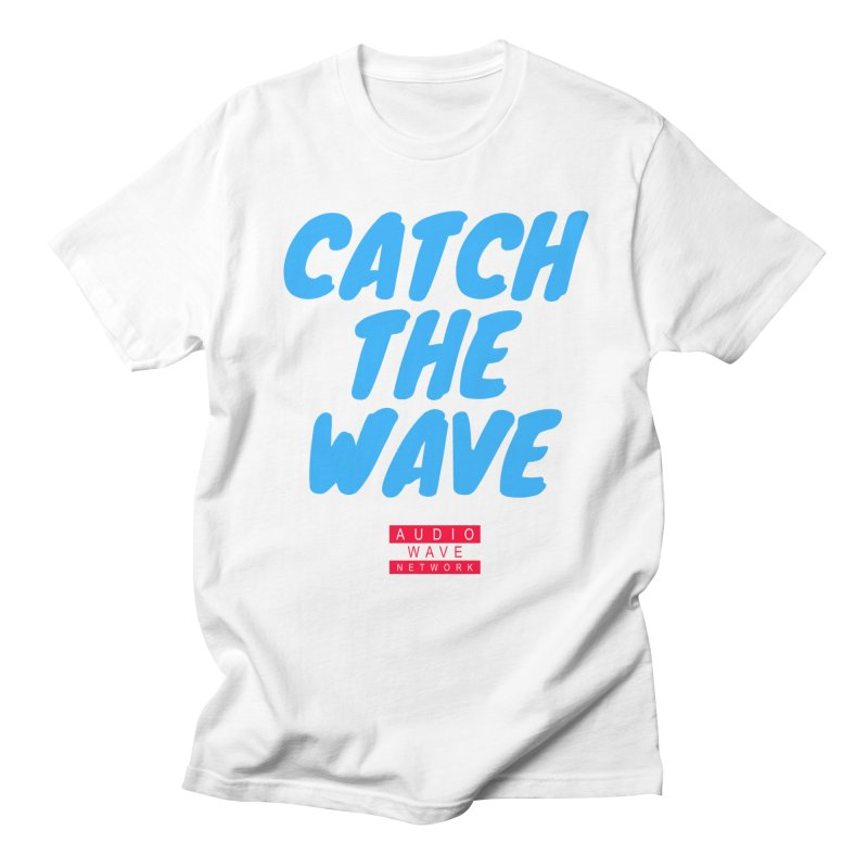 Catch The Wave in Men's Regular T-Shirt White by Audio Wave Network